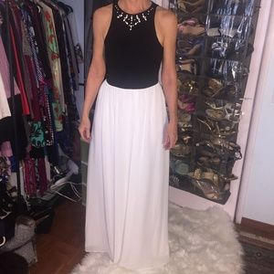 Ali and Jay colorblock embellished maxi